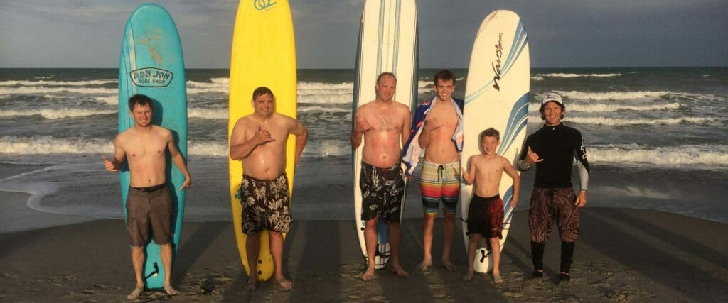 Surfing lessons surf school Cocoa Beach Miami Florida