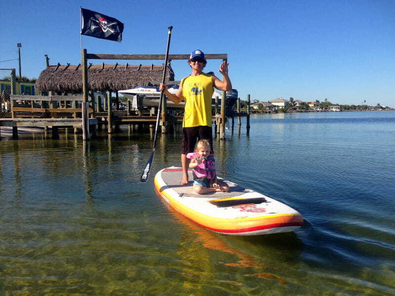 Kids stand up paddle lesson