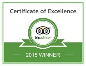 Recipient of a 2015 TripAdvisor Certificate of Excellence