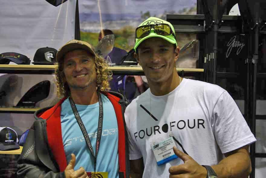 Danny Ching at Surf Expo Orlando with Girard Middleton