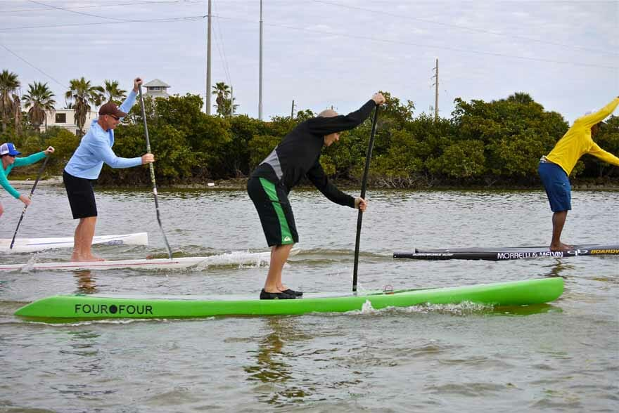 Candice Appleby and Anthony Vela SUP clinic