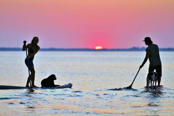 Sunset SUP tour at SoBe Surf
