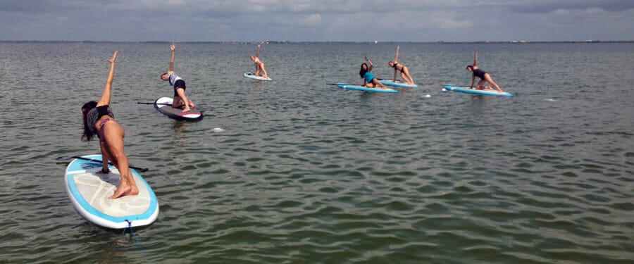 Stand Up Paddle Yoga Sobe Surf Cocoa Beach