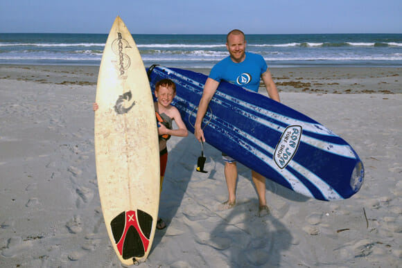 Kids surf lesson in Cocoa Beach, FL