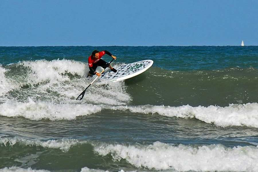 SUP surfing in Cocoa Beach FL
