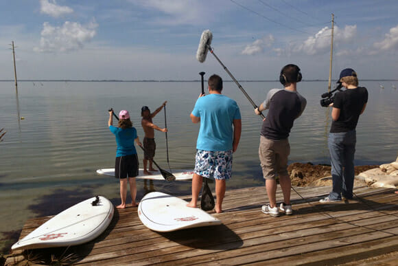 SUP instruction video shoot with Girard Middleton