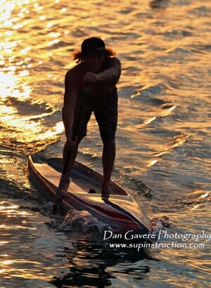 SUP race training near Cocoa Beach