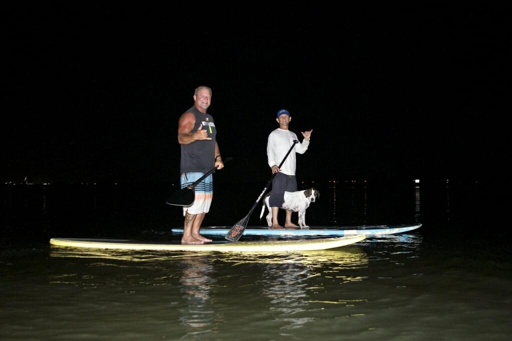 Moonlight bioluminescence SUP eco tour near Cocoa Beach