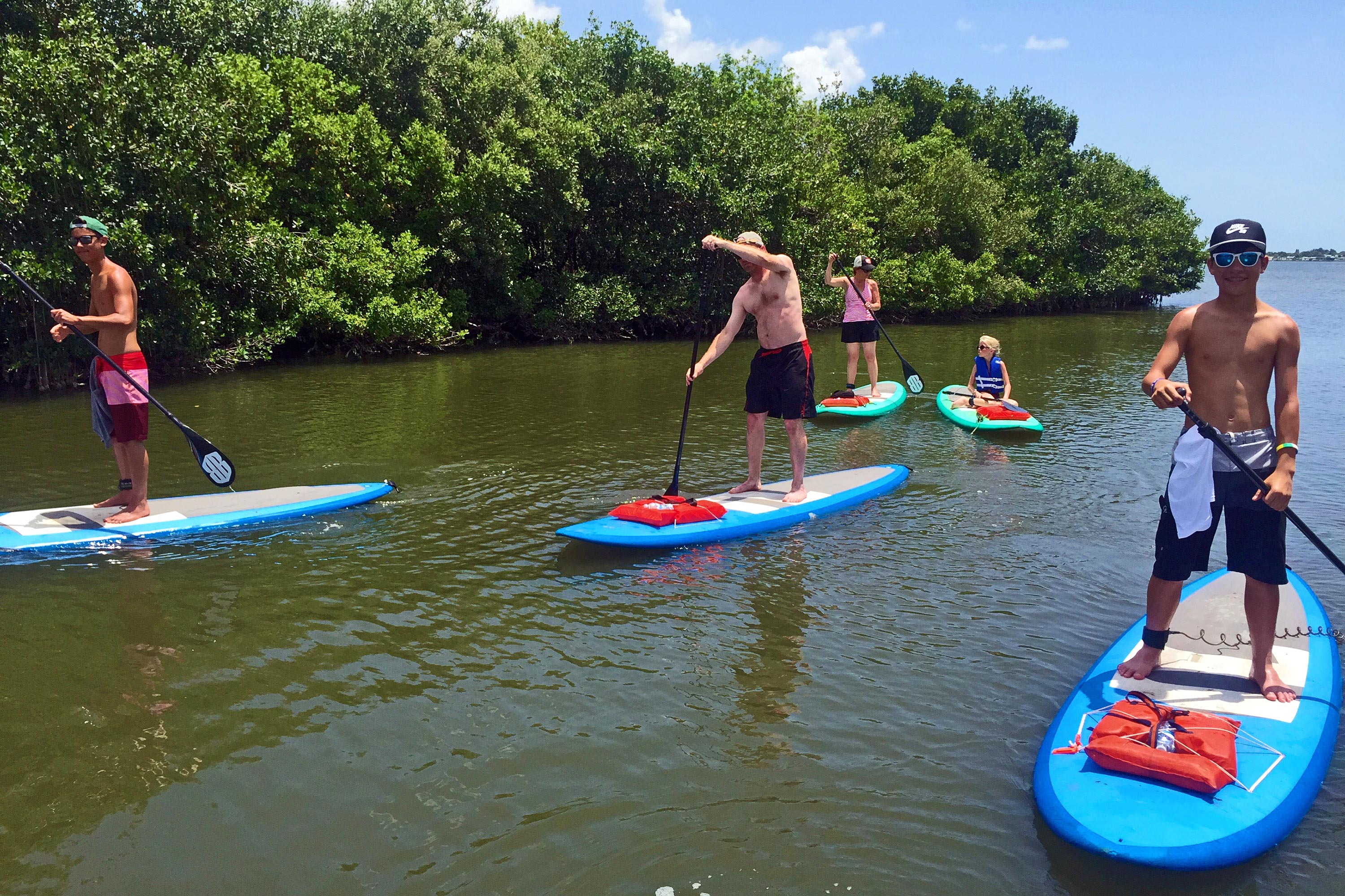 Stand up paddle eco tour near Cocoa Beach, FL