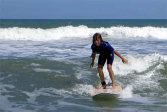 Kids surf lesson in Cocoa Beach