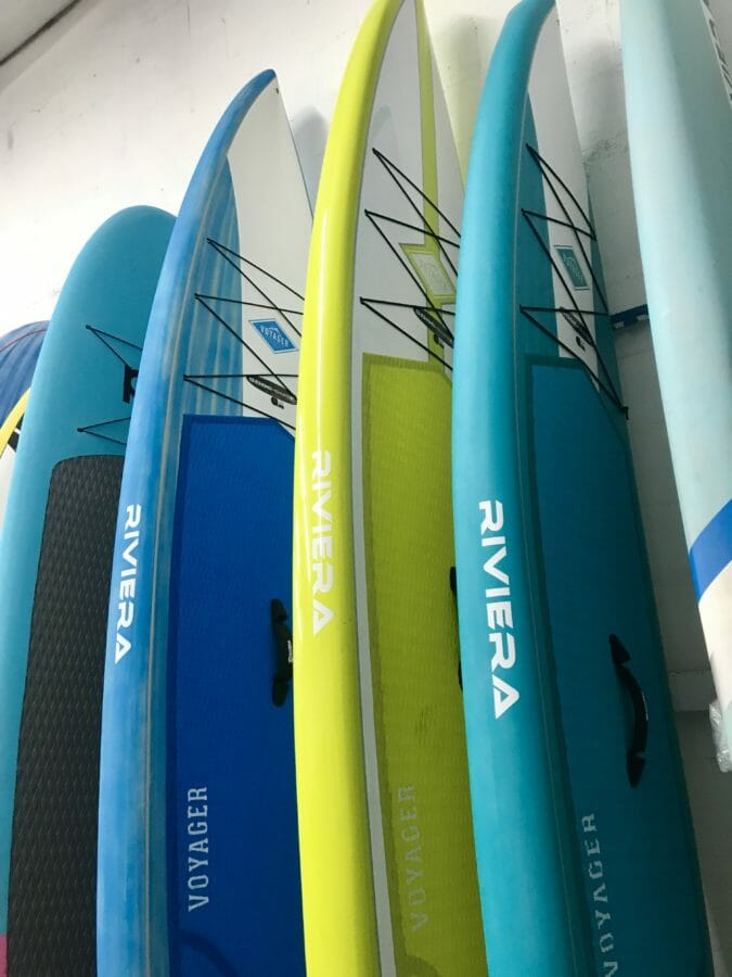 Riviera Voyagers in SoBe Surf & Paddle board shop