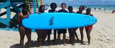 Group surf lessons for beginners in Miami South Beach