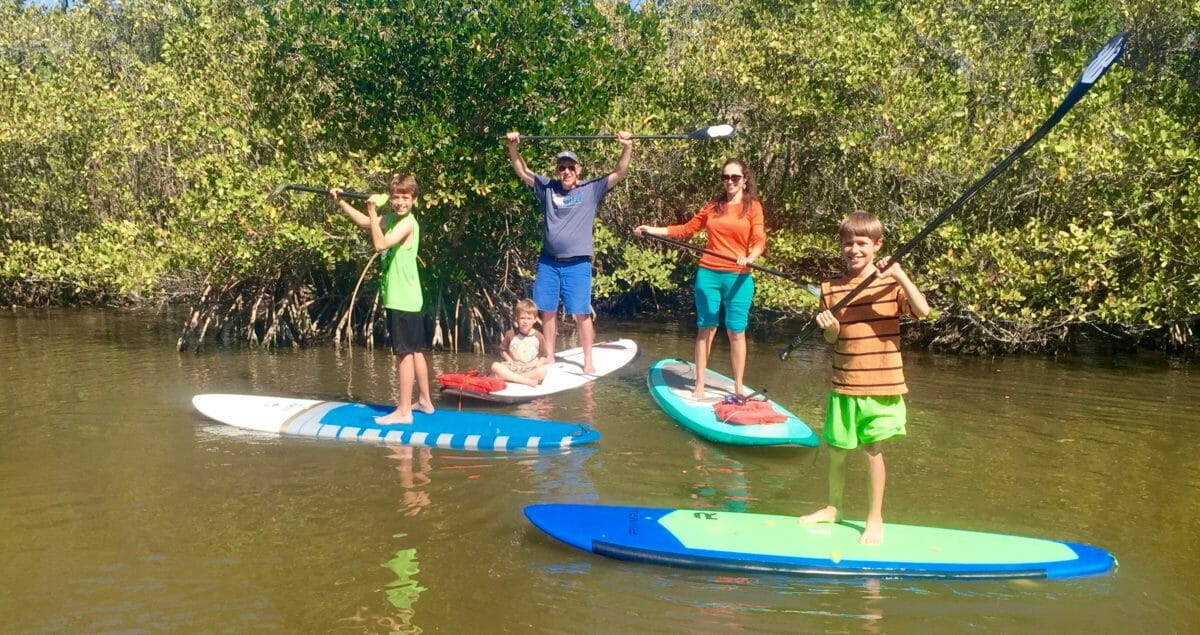 Family Stand Up Paddle Outing Near Cocoa Beach Fl